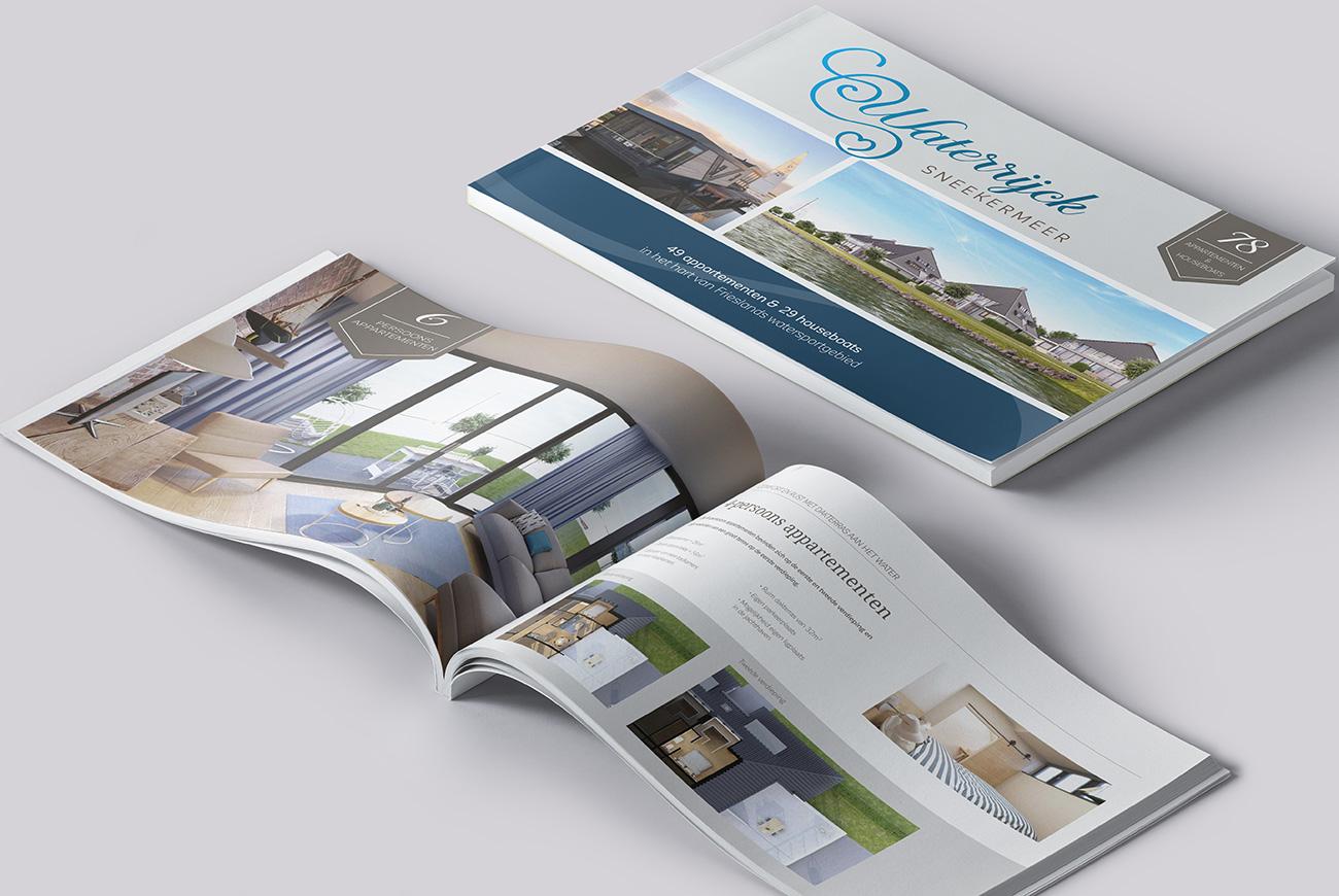 Vakantiemakelaar branding Waterrijck Sneekermeer brochure