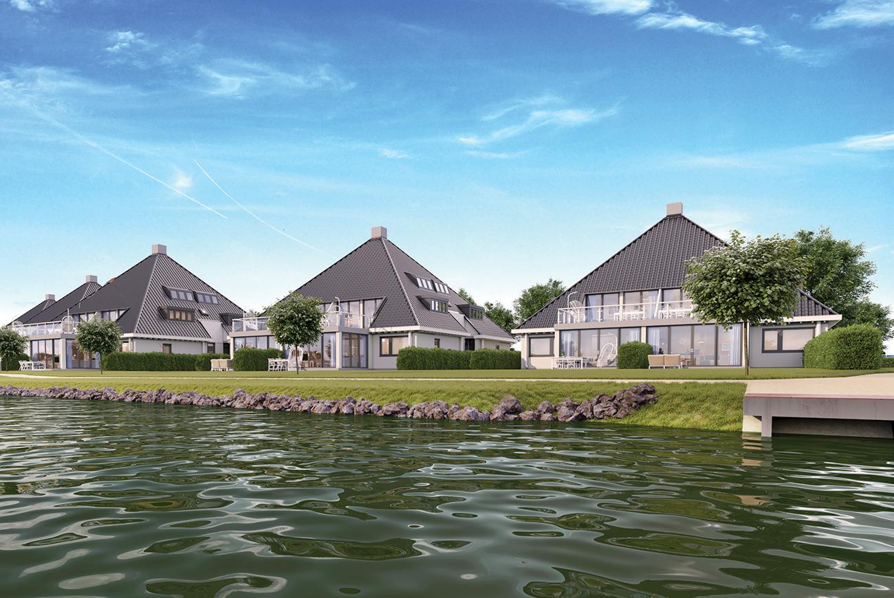 Vakantiemakelaar branding Waterrijck Sneekermeer renders