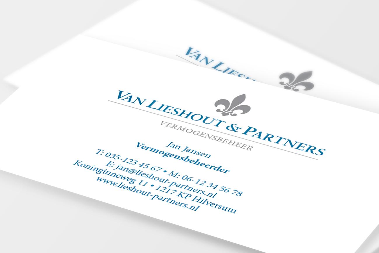 Van Lieshout & Partners visitekaartjes